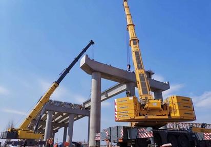 泰安莱泰高速路30米箱梁安装